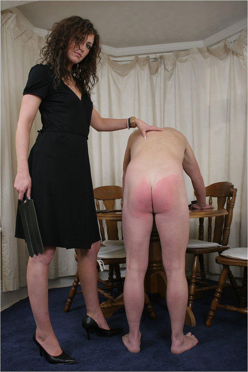 Wife spanks husband