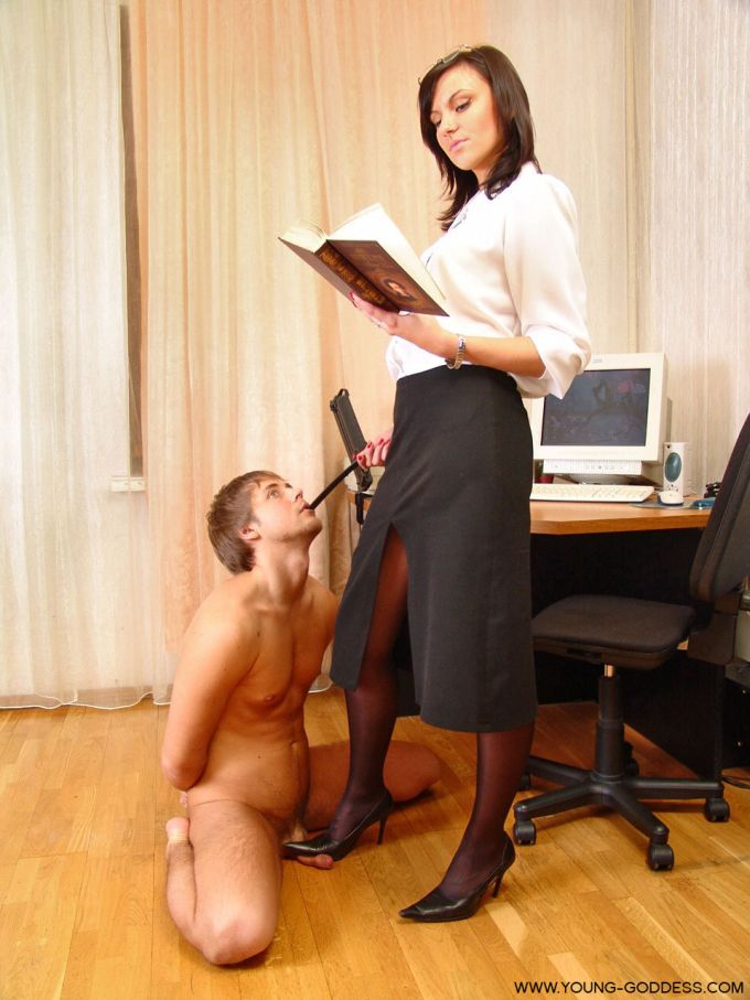 Female submissive in training 1
