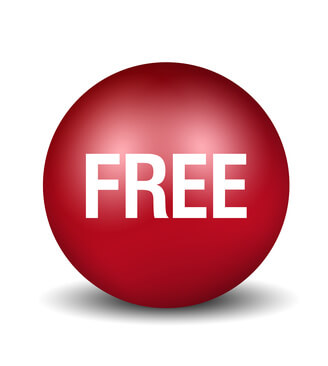 Free Button - red