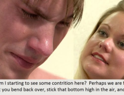 otkfme:Spankings do help males feel sorry for what they did.