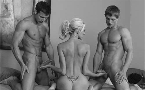 порно фото втроем мжм