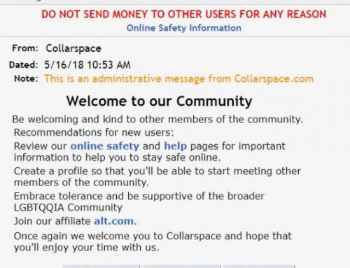Are you on Collarspace? Read this
